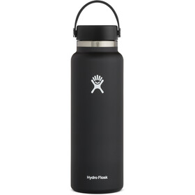 Hydro Flask Wide Mouth Drinkfles met Flex Cap 1180ml, black